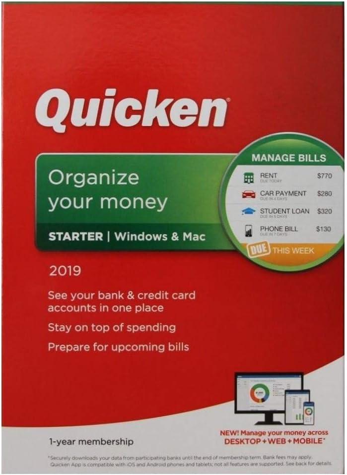 Quicken Starter 2019 1-Year Membership : Amazon.co.uk: Software