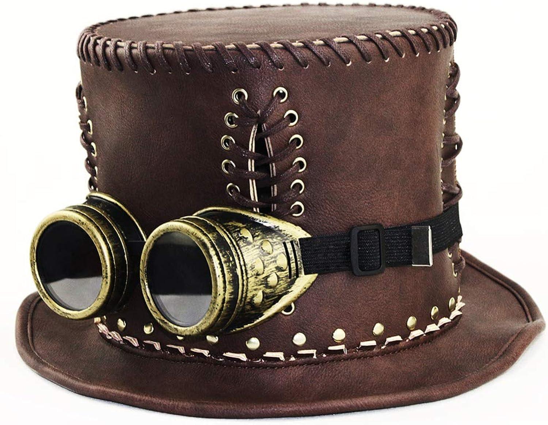 los clientes primero Xsj Rock Unisex Steampunk PU PU PU Cuero Split Hat Accesorio Gótico Rendimiento  más orden