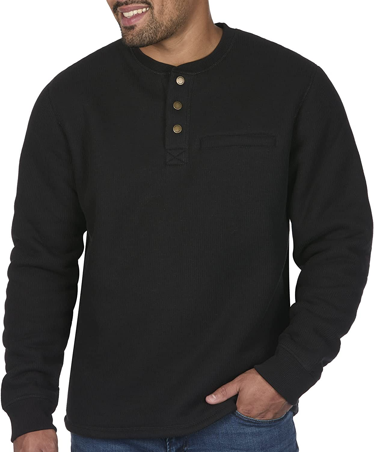 Coleman Long-Sleeve Sherpa Recommendation Lined Waffle Henley Men Ranking TOP3 Shirts for