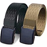 2. WYuZe Pack of 2 Nylon Tactical Belts