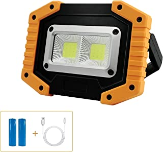 Sponsored Ad – Tekstap Portable LED Rechargeable Work Light 2 COB 30W 1500LM Ultra Bright with Stand Waterproof LED Securi...