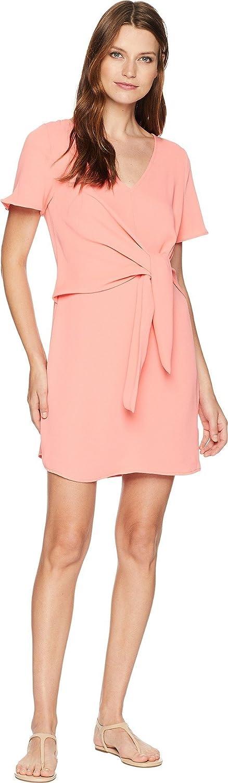 American pink Womens Ellis Front Knot VNeck Dress