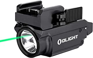 Image of OLIGHT Baldr Mini 600 Lumens Magnetic USB Rechargeable Weaponlight with Green Beam and White LED Combo, Compact Rail Mount Tactical Flashlight with Adjustable Rail