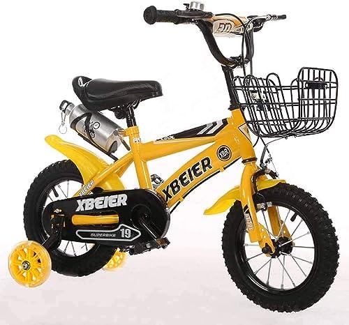 bienvenido a elegir Bicicletas for Niños, Bicicletas Bicicletas Bicicletas for Niños Unisex de 16 18 Pulgadas. Carrito de bebé con rines de Entrenamiento. (Color   amarillo, Talla   18 )  excelentes precios