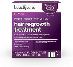 مراقبتهای اساسی محلول موضعی مینوکسیدیل USP ، 2٪ درمان رشد مجدد مو برای زنان ، 6 فلور. اوز