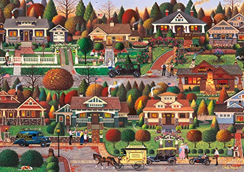 Buffalo Games - Charles Wysocki - Labor Day in Bungalowville - 300 Large Piece Jigsaw Puzzle