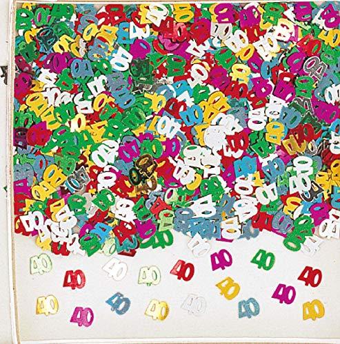 amscan confettis Multicolore 40 Ans métallique pour Fete Anniversaire