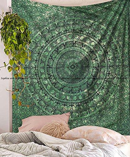 Sophia Art Tapisserie/ Wandbehang, Mandala, Mandala, Grün