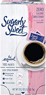 SUGARLY SWEET Zero Calorie Sweetener Packets with Saccharin, Sugar Substitute, Sugar Alternative, Pink Sweetener Packets, ...