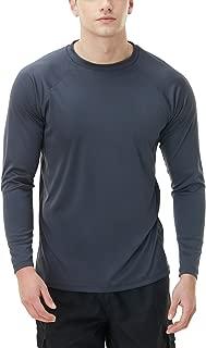 Men's UPF 50+Swim Shirt Swim Long Sleeve Tee Rashguard Top