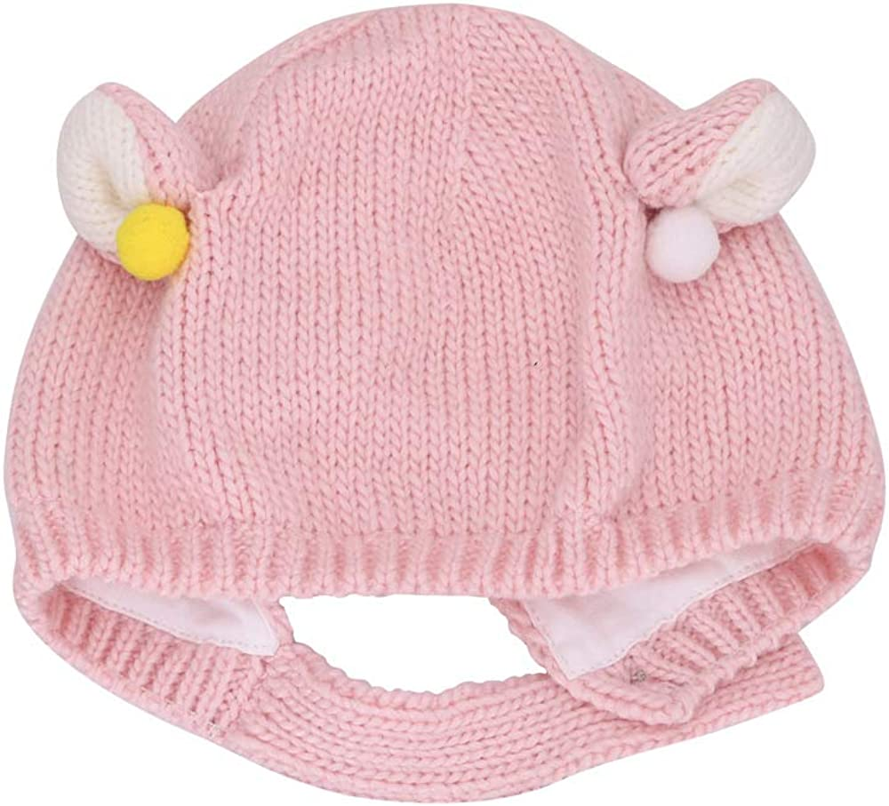 jerague Baby Toddler Girl Knit Hat Kids Cute Winter Warm Earflap Beanie Knitting Wool Cap