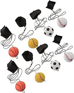 VICASKY 8 st handledsband boll gummi hög studs elastisk sträng studsbollar sport handledsbollar för fingerstyvhet lindrar ...