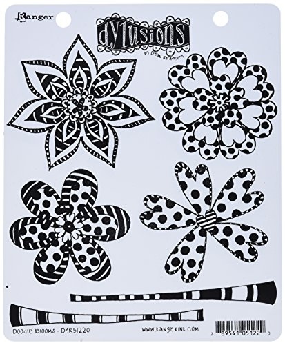 Ranger DYR51220 Doodle Blooms Dyan Reaveley's Dylusions Cling Stamp Collections, 8.5' by 7', Clear