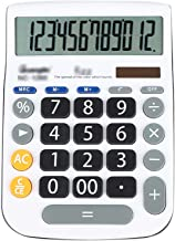 $29 » WXIANG Calculator Desktop Calculator, Standard Functional Desktop Calculator Solar and Battery Dual Power Electronic Calcu...