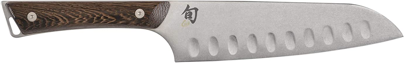 Shun SWT0718 Kanso 7-Inch Hollow-Ground Santoku Knife