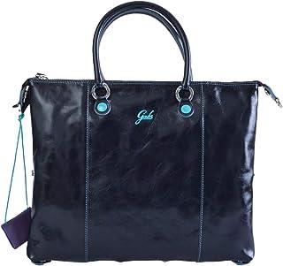 GABS G000033T3-P0085-C3001 Tasche Luna G3 Plus TG L umwandelbar Einkaufstasche Made in Italy Leder Blau 43 x 37 cm