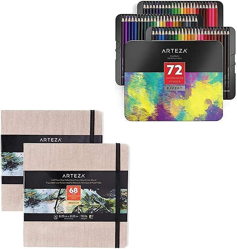 Arteza Fresno Mall Watercolor Sketchbooks Pencil low-pricing and Professional