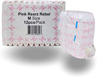Rearz - Limited Edition - Pink Rebel - Adult Diaper (12 Pack) (Large)