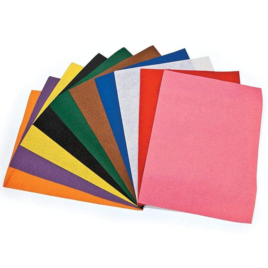 Fun Express - Gigantic Fantastic Felt SheetS-50 pc - Craft Supplies - Bulk Craft Accessories - Felt & Fabrics - 50 Pieces