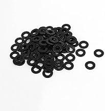 Cuasting M5 x 10mm x 1mm Zwart Nylon Platte Wasmachines Pakkingen Spacers 100PCS