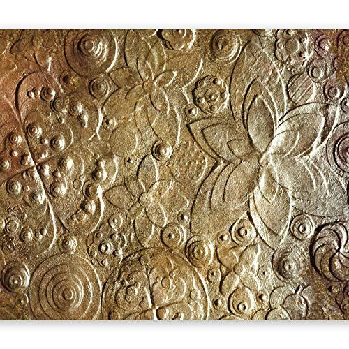 murando Papier peint intissé 400x280 cm Décoration Murale XXL Poster Tableaux Muraux Tapisserie Photo Trompe l'oeil Fleurs or texture f-C-0085-a-a