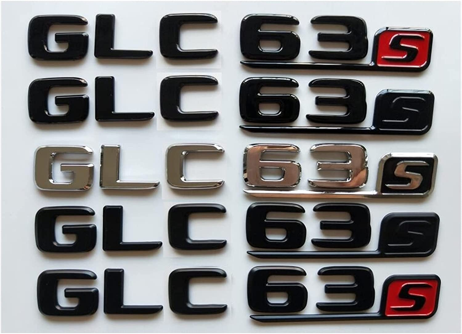SHIWANGLIN Max 67% OFF Chrome Black Letters free shipping Number Trunk Embl Badges Emblems