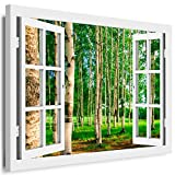 BOIKAL XXL142-7 Fensterblick Leinwand bild 3D Illusion -