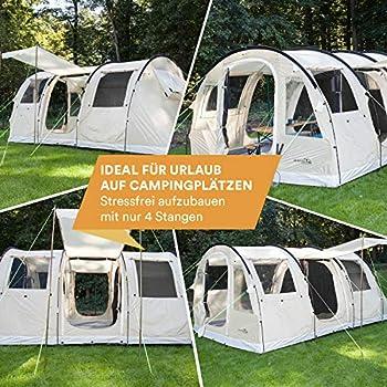 skandika Gotland 4 - Tente de Camping 4 Personnes - 480 x 310 cm (Sable)