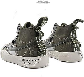 XJZM Baskets en Toile, Chaussures De Sport De Plein Air, Baskets Montantes pour Adultes Unisexes, Haut Respirant à Section...