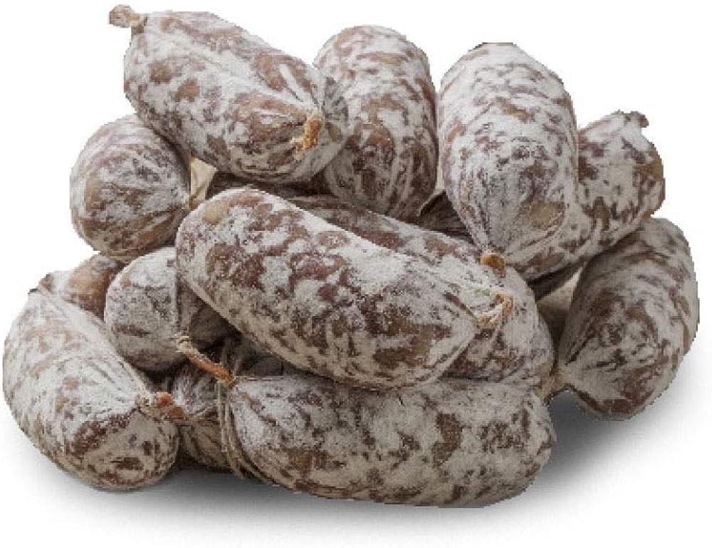 Salumi pasini salamini pic nic 100% carne italiana senza glutine e lattosio 9 pezzi per un totale di 500 gr