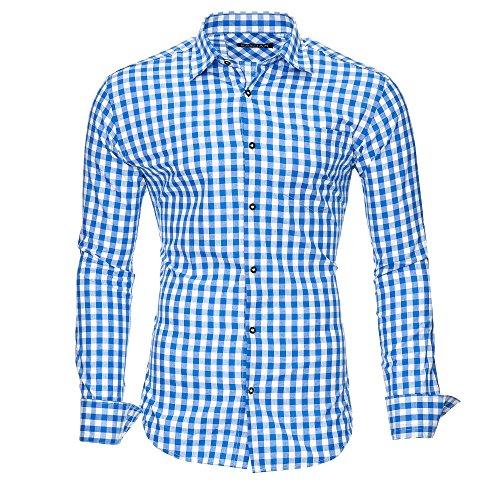 Kayhan Herren Hemd, Oktoberfest Blau XXL