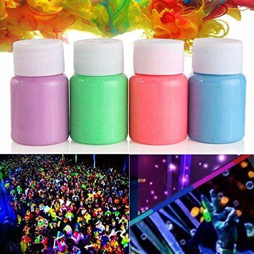 EgBert Fiesta De Halloween Cara Cuerpo Noctilucencia Glowing Líquido No Tóxico Pintura Tinte Líquido Herramientas De Maquillaje - Azul