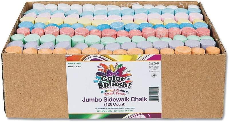 S S Worldwide Color Splash Giant Box Of Sidewalk Chalk Box Of 126