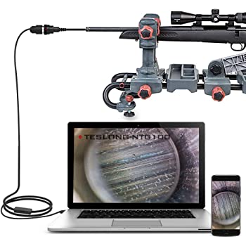 Teslong Rifle Borescope, 0.2 Inch Gun Barrel Bore Scope Camera, Side-View Mirror, 36 Inch Semi-Rigid Cable, Works with Windows, Mac and Android Smart Phones