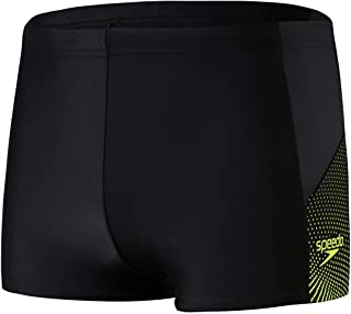 Speedo Dive Aquashort Am Men's Swimsuit, Mens, Swim Briefs, 8-11742F318_XXS, Black/Oxid Grey/Fluorescent Yellow, 6