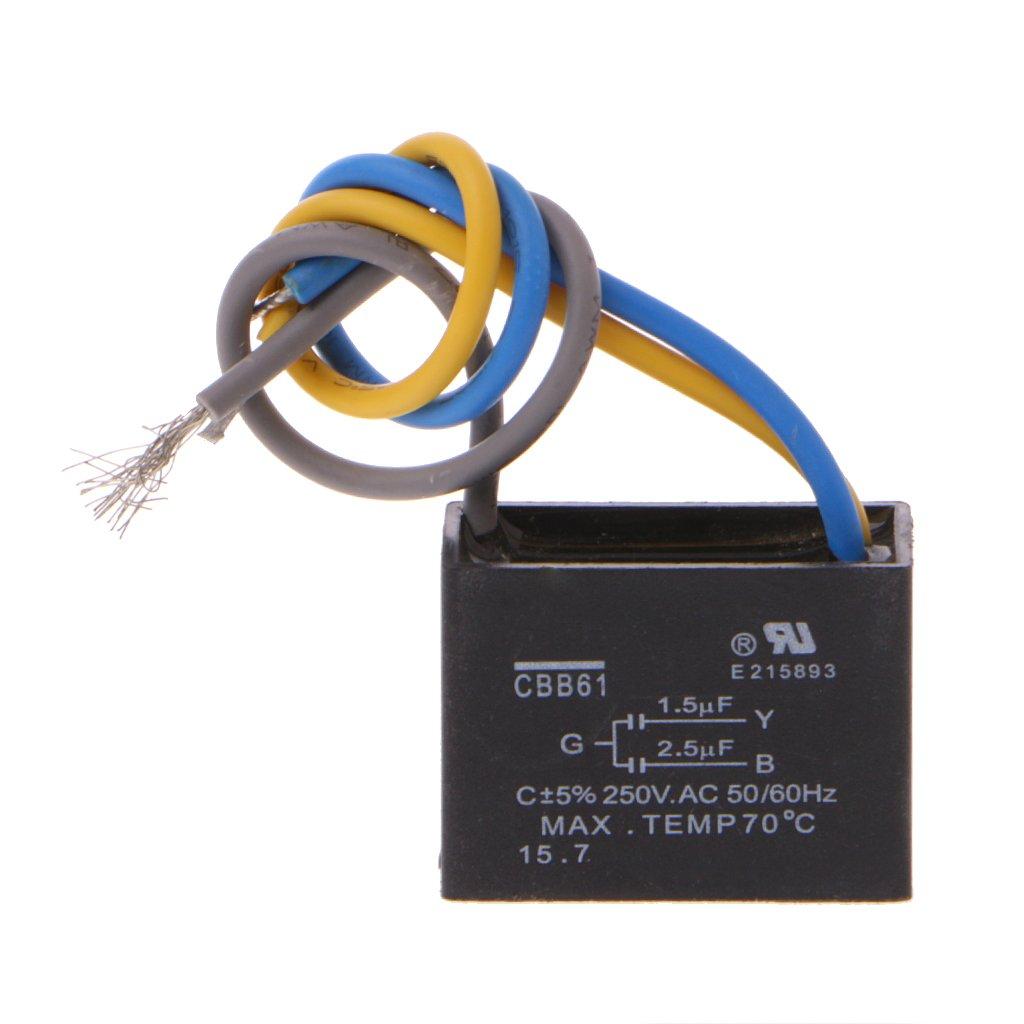 FXCO CBB61 - Condensador para Ventilador de Techo (CBB61, 1,5 uF + ...