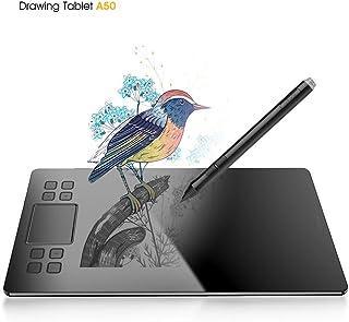 VEIKK 正規品 A50 10 * 6 インチペンタブ 8個ショートカットキー 消しゴム機能搭載 P06スタイラスペン 8192レベル充電不要ペン ペンタブレット 正規品 清潔ブラシと専用グロー