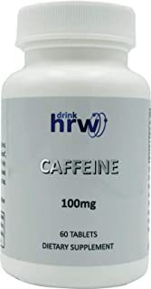 DrinkHRW Caffeine Pills, 100mg Caffeine Tablets, Combat Fatigue Effectively with Easy to Take Capsules (1)
