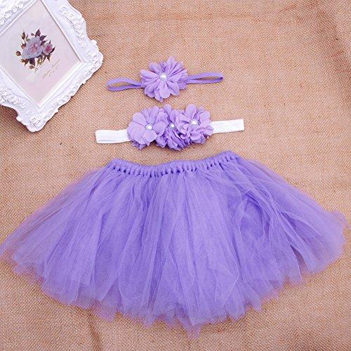 siwetg baby kleinkind meisjes bloem kleding + haarband + tutu rok foto prop kostuum outfits