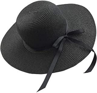 Sun Hats Floppy Foldable Bowknot Large Wide Brim Straw Women's Hats Summer Beach Cap UV Protection