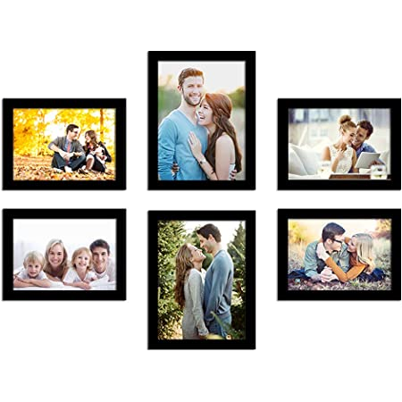 Art Street Photo Frame For Wall Set of 6 Black Picture Frame For Home Decoration Size -6x8,5x7 Inches Ecoseries (ASPWTECO23273)