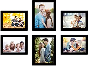 Art Street Photo Frame For Wall Set of 6 Black Picture Frame For Home Decoration Size -6x8,5x7 Inches Ecoseries (ASPWTECO2...