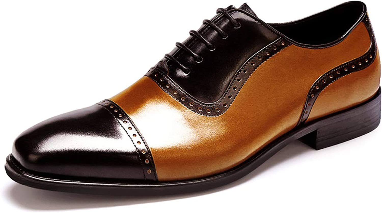GanSouy Hommes Décontracté Noir Bcourir Cuir véritable Chaussures à Lacets Affaires Office Chaussures de Travail Vintage Bout Pointu Robe de mariée Derby Formelle Oxfords Faible-Top Chaussures