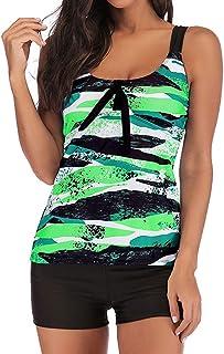 Women Two Piece Plus Size Swimwear ❀ Ladies Gradient Tankini Swimjupmsuit Swimsuit Beachwear Padded Bikini Set 2019