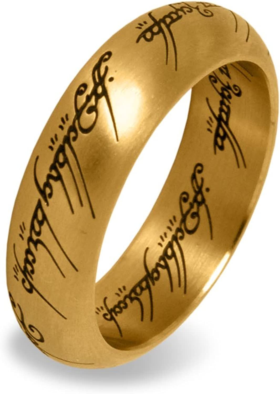 LOTR  One Ring Stainless Steel gold size 10