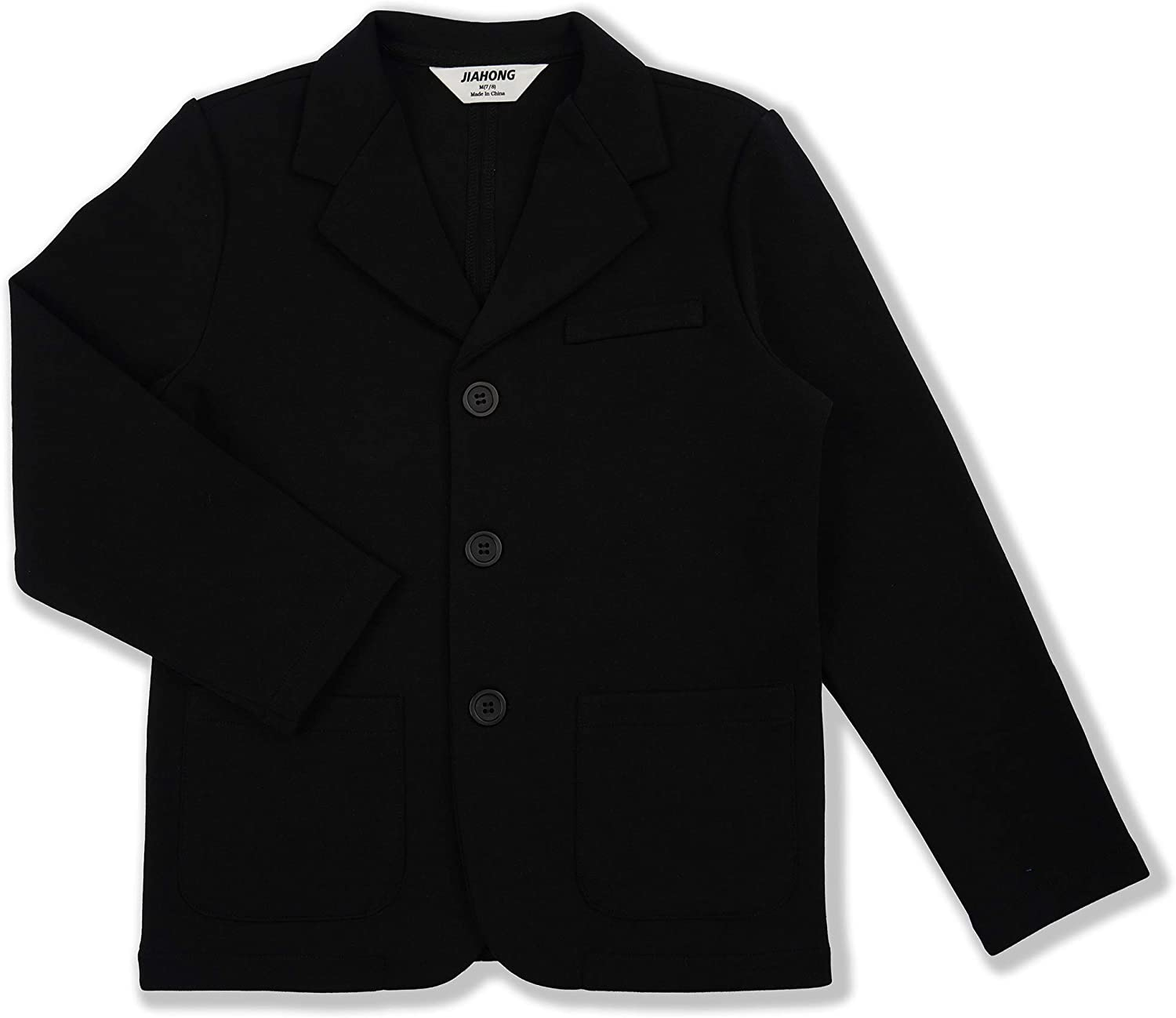 JIAHONG Kids Boys' Sport Blazer Casual Blazers Suit Jacket with Pockets for Girls or Toddler 3-12 Years
