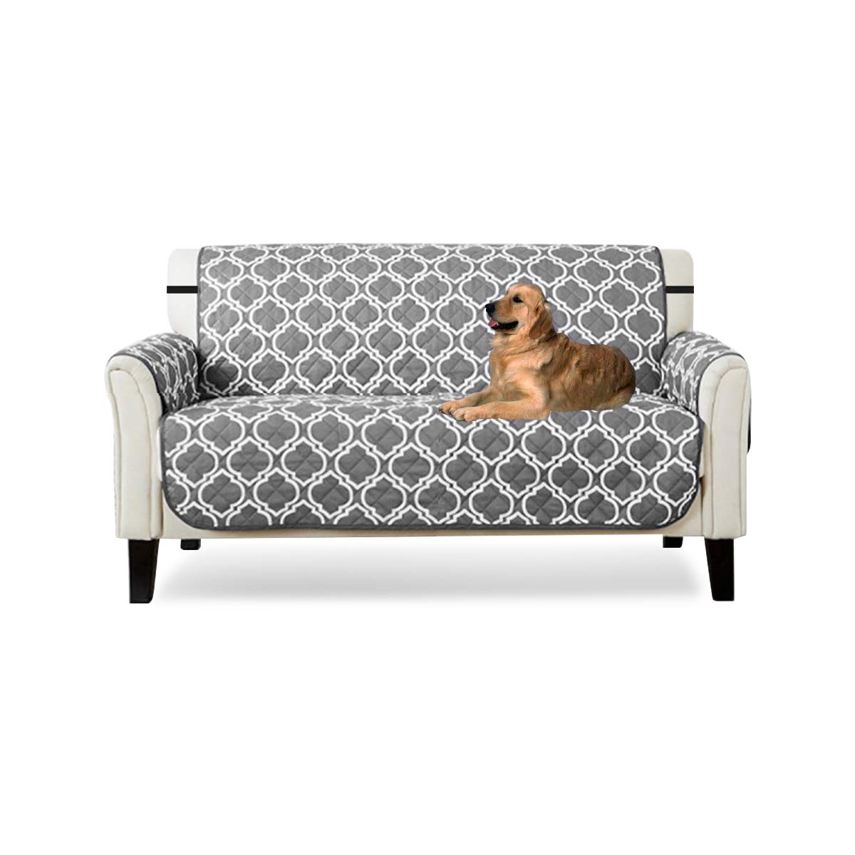 PETCUTE Quilted Sofa cover sofa slipcover sofa protector for Dog cat Furniture Protector 2 Seater