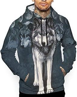 Go KJ Unisex Wolf's Shadow Hoodies Funny Pullover Hood Jackets Sweatshirt