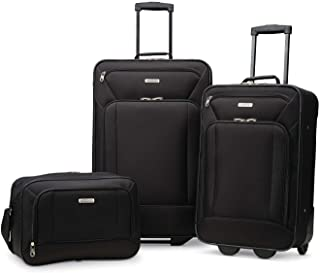 Fieldbrook XLT Softside Upright Luggage, Black, 3-Piece...