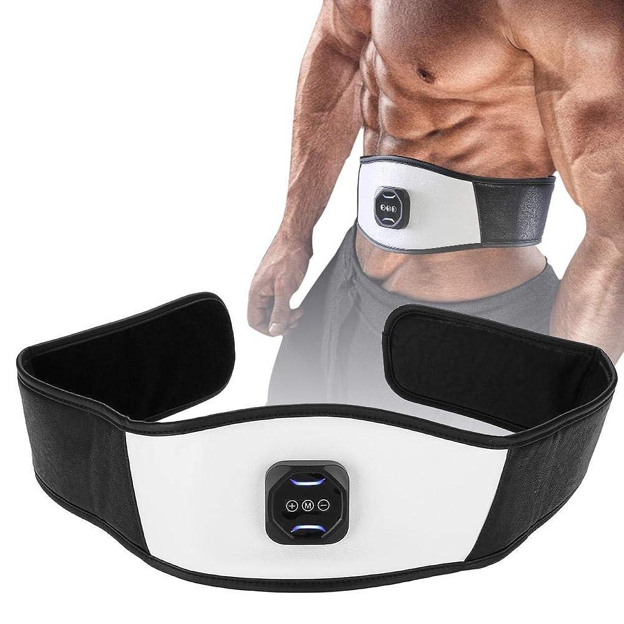 砲撃話瞑想的電動スリミングベルト 腹部マッサージャー 微振動 ウエストトリマーエクササイズ ベルト